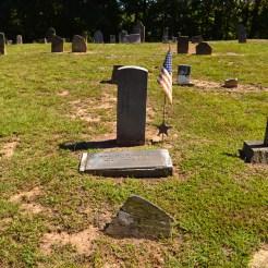 """The grave site of William """"John"""" Wickham."""
