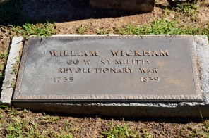 "The ""newer"" and maybe incorrect plaque of William and/or John Wickham."