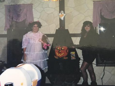 Our joint Halloween party, circa 1993/94