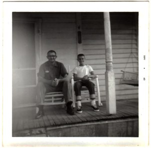 Curtis Lemaster with son Neale, my dad.