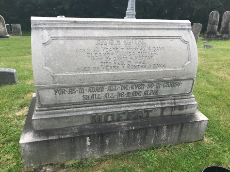 The Moffat stone BEFORE cleaning.