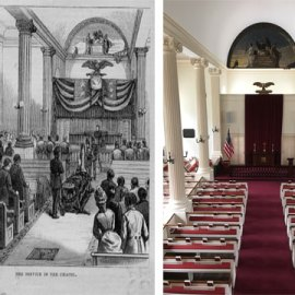 West Point's Old Cadet Chapel Then and Now