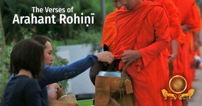 Giving alms to the sangha