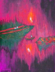 Sandy Matke SS-SG-00015 Sunset on the Styx