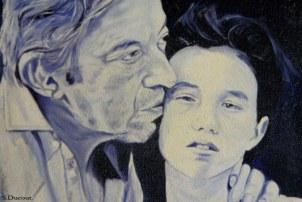 Gainsbourg et sa fille - Série de photos de chanson française - Serge Ducout - Photographie