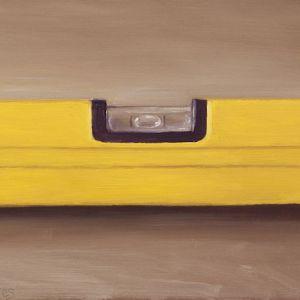 Schilderij Waterpas, olieverf op paneel, 13 x 18 cm, Serge de Vries