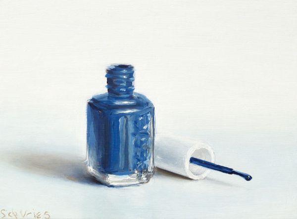 Essie nagellak, olieverf op paneel, 13 x 18 cm, Serge de Vries