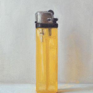 Aansteker nr5, olieverf op paneel, 13 x 9 cm, Serge de Vries