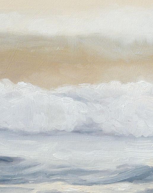 Detail Golf nr5, olieverf op paneel, 19 x 15 cm, Serge de vries