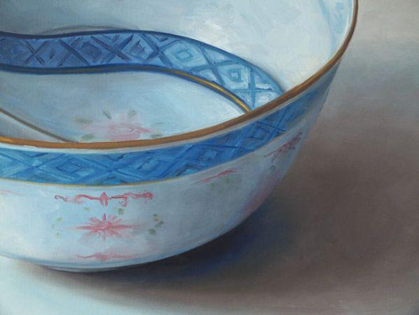 Detail 2 Chinese kom XL, olieverf op linnen, 70 x 90 cm, Serge de Vries