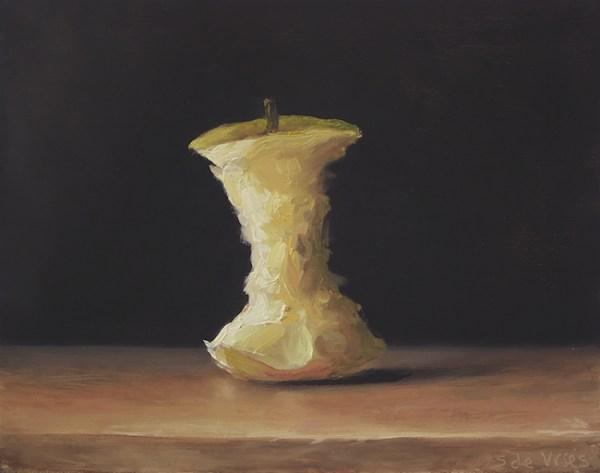 Klokhuis, olieverf op paneel, 13 x 16,5 cm, Serge de Vries