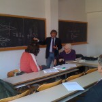 Sergio Bellucci e Marcello Cini - presentazione de Lo Spettro del Capitale alla facoltà di fisica a Roma