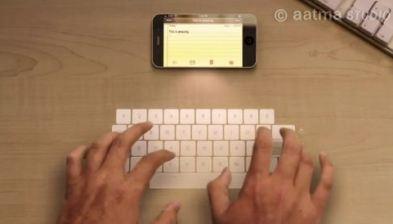 Concept iPhone5 - Tastiera virtuale a proiezione laser