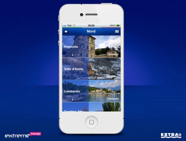 App Nivea Tour iPhone Localita