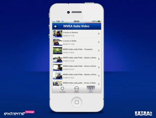 App Nivea Tour iPhone Video