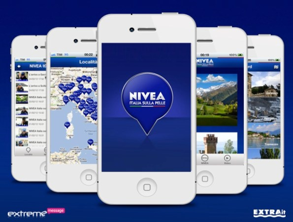 App Nivea Tour iPhone set