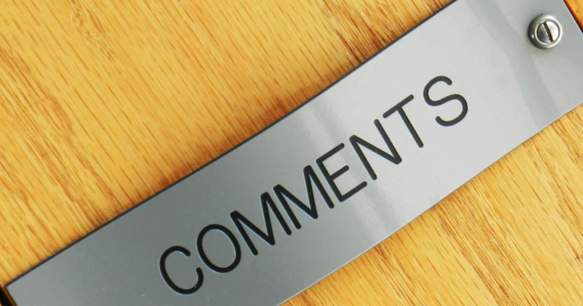 etichetta commenti