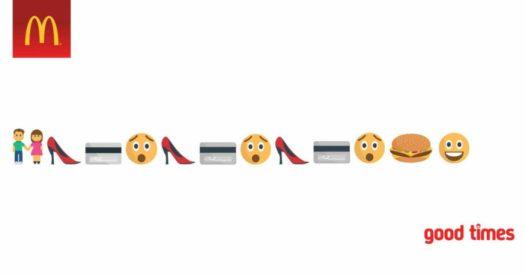 Campagna Mc Donalds con emoji