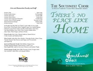 There's No Place Like Home Program Outside