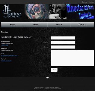 Houston Ink Society Contact Form
