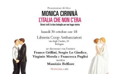 """Monica Cirinnà presenta a Bologna """"L'Italia che non c'era"""""""