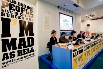 "15 October 2010 , Rome - World Food Day Civil Society Forum ""Actions against Hunger"", FAO headquarters (Iran Room)."