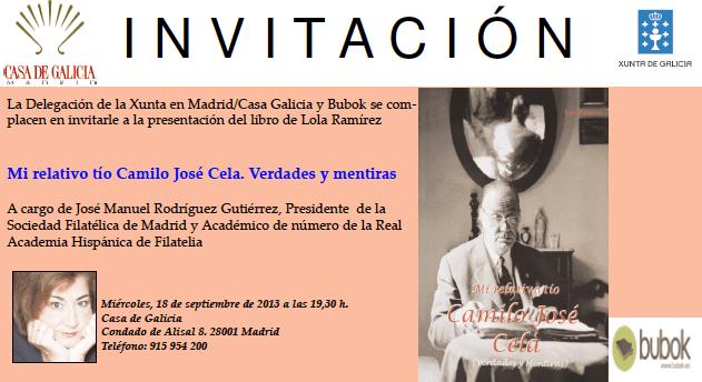 """Presentación del libro """"Mi relativo tío Camilo José Cela"""""""