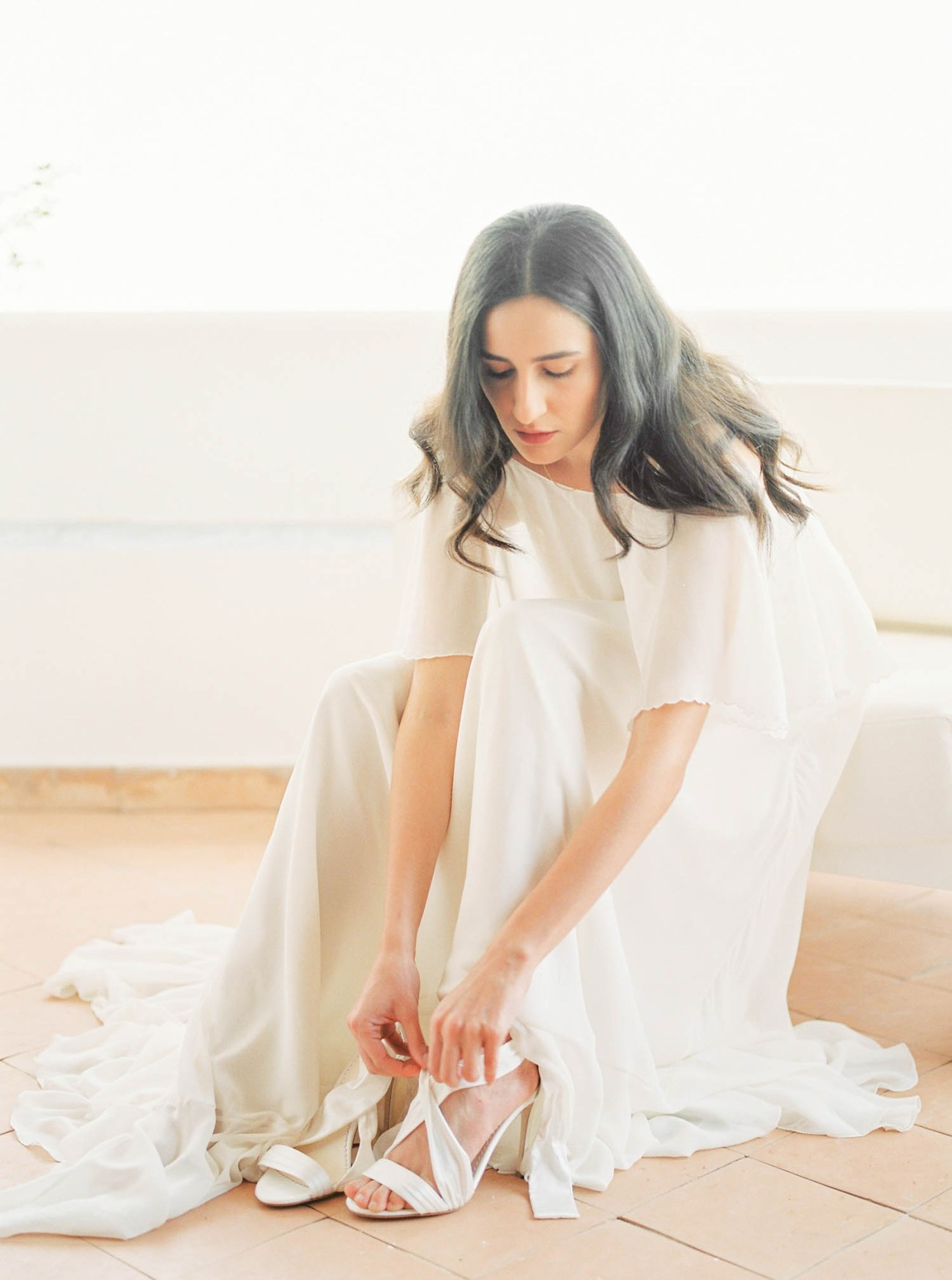 Silvia Moretta Wed Lab wedding dress and Bella Belle shoes