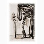 Arlequin frappe (sépia) - Série Finita la Comedia