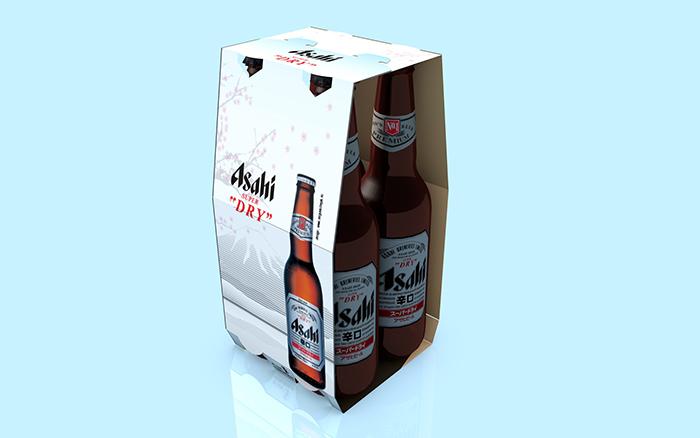 Packagings Asahi - pack 4 bouteilles
