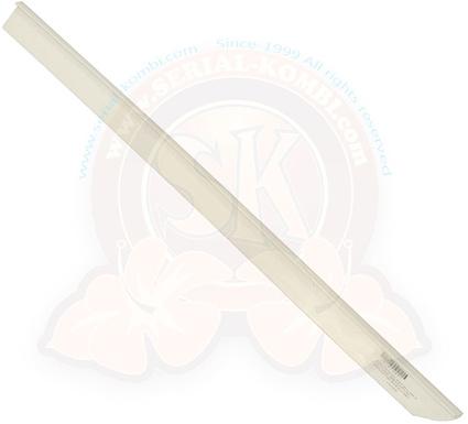 bandeau plastique blanc cache tringle du rideau de porte coulissante westfalia 8 1973 7 1979 generalement fripe retracte par la chaleur