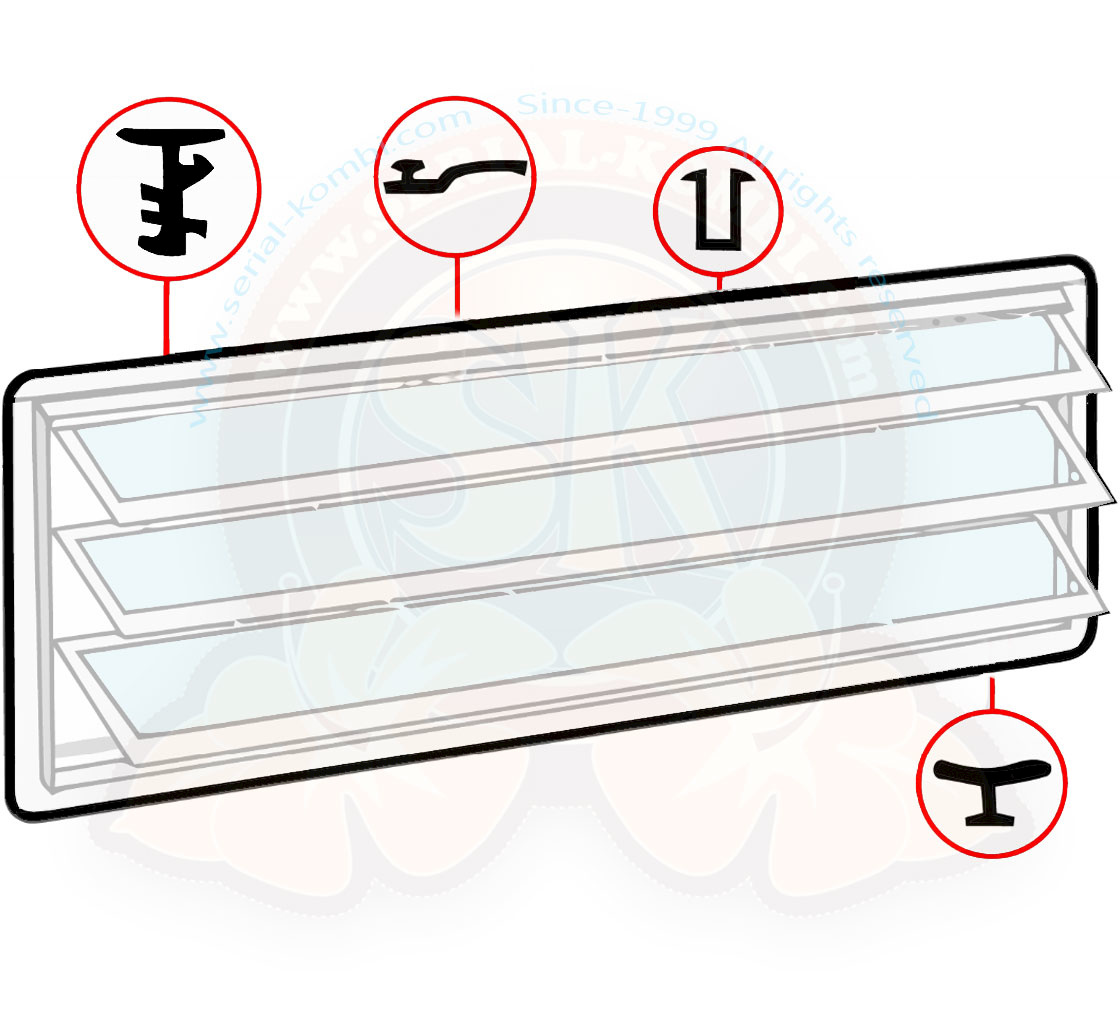 Louvered Jalousie Window Seal Kit Black Westfalia 8