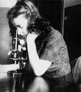 Esther Lederberg (1922-2006), une des femmes de sciences spoliées.