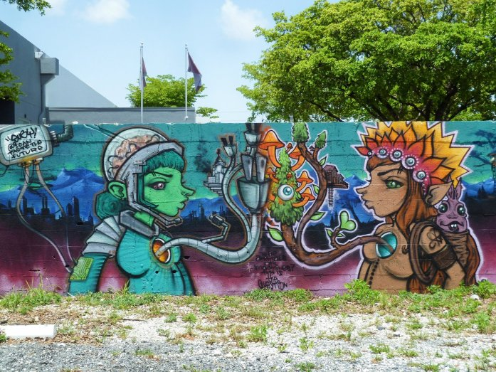 Wynwood robot street art