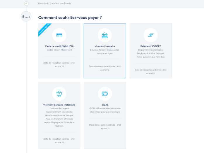 Transferwise comment payer