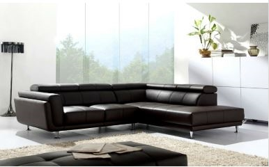 seriena w series l shaped sectional sofa corner sofa with three seater and chase lounge in black top grain leather