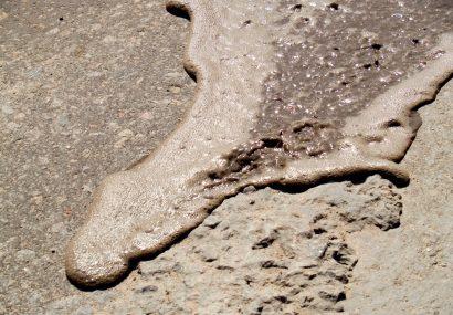Keystone pipeline post illustration oil on rock