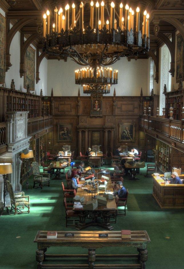The Folger Shakespeare Library Reading Room.