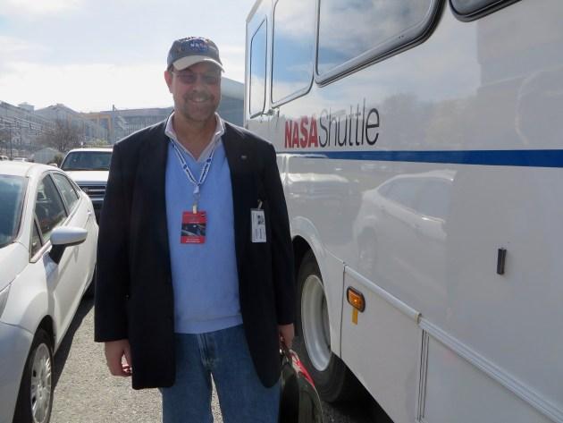 Dan with Nasa Shuttle. #NASASocial