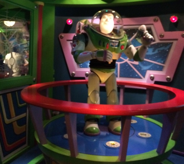Buzz Lightyear epitomizes Disneyland and the Industrial Age