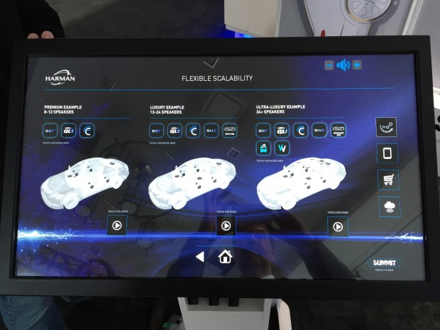 Harman automobile audio CES 2016 Summit scalable audio features