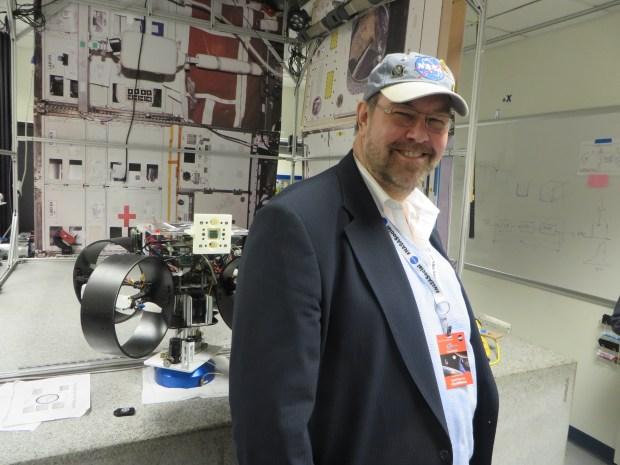 Dan in the Spheres Lab. #NASASocial