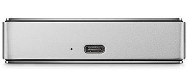LaCie Porsche Design Mobile Drive showing USB Type-C Connector.