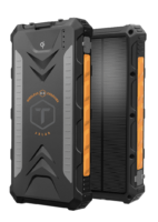 ToughTested ROC 1000MAH Wireless Solar Power Bank - front-back