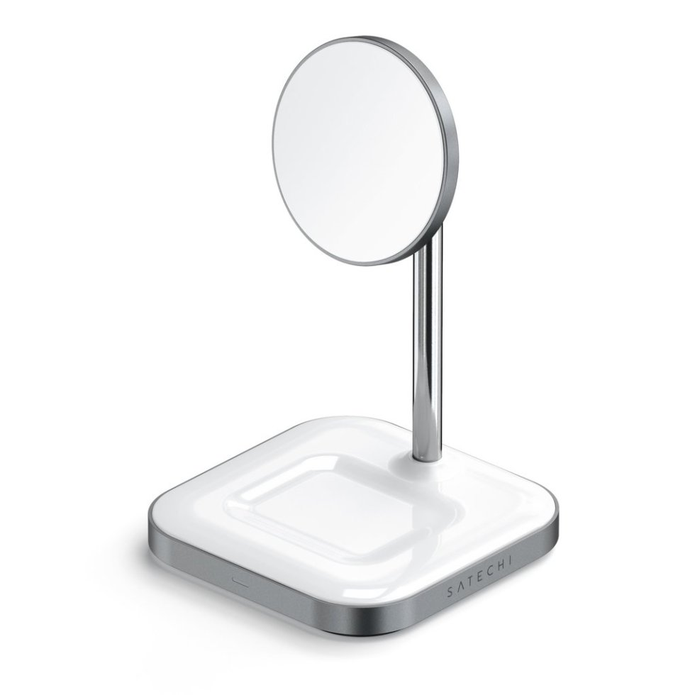 iPhone 12 charging stand: Satechi Aluminum 2-1 Magnetic Wireless Charging Stand
