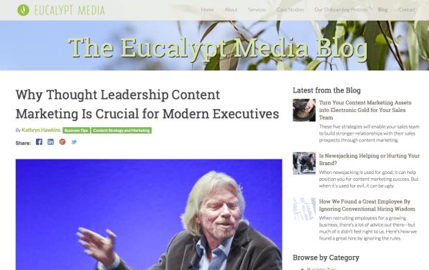 Eucalyptus Media Thought Leadership
