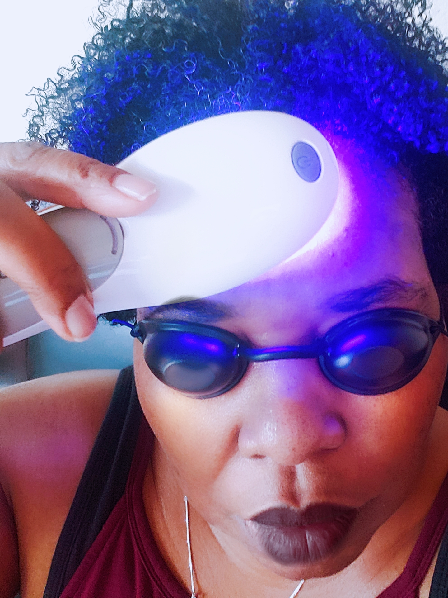 Acne Solutions Like Light Therapy Are Top Notch Like The Poly Go, A Handheld, At-Home LED Light Therapy. They beauty tool is also great for pain & wrinkles
