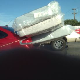 Car hauling mattresses