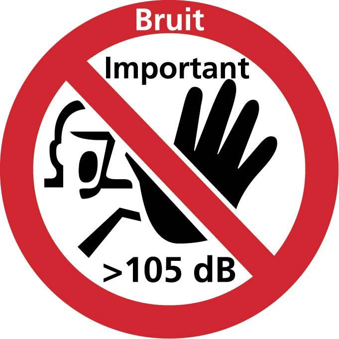 Accès interdit bruit <105DB Image