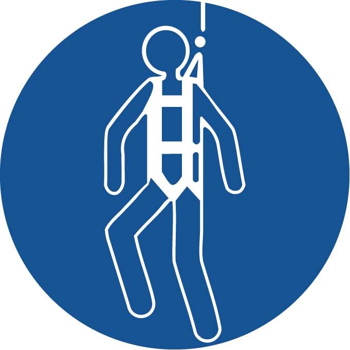 Protection obligatoires contre les chutes Image